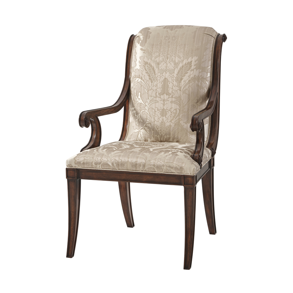 THEODORE ALEXANDER - Normand Dining Arm Chair
