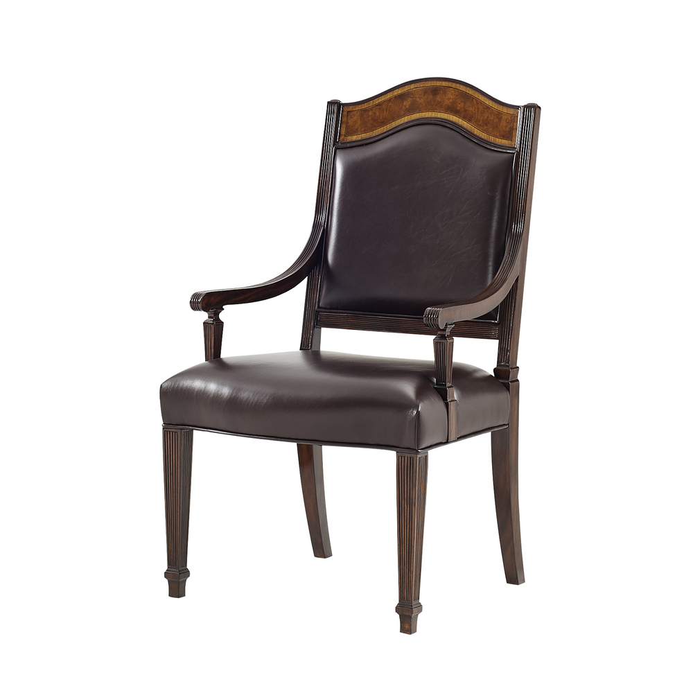 THEODORE ALEXANDER - Sheraton's Satinwood Arm Chair