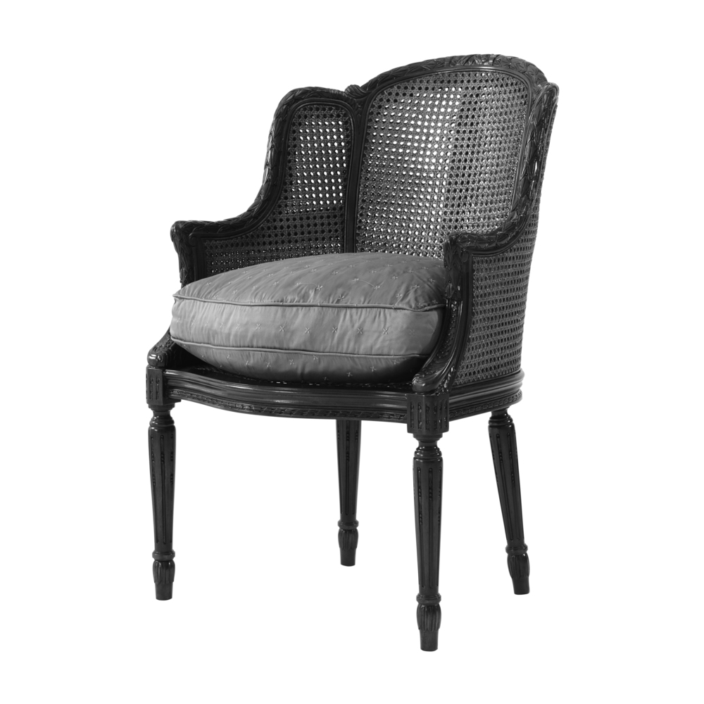 THEODORE ALEXANDER - Wooden Upholstered Arm Chair