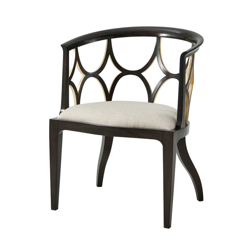 Theodore Alexander - Ebonised Connaught Accent Chair