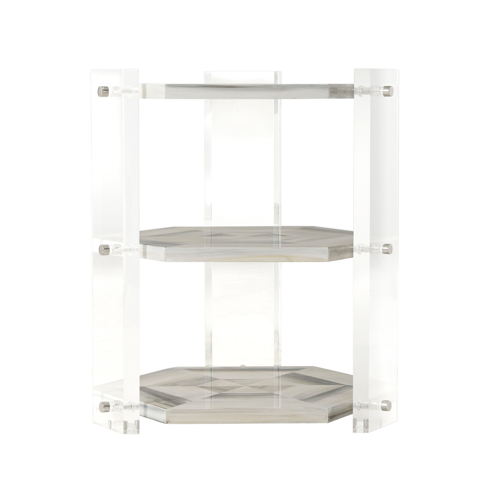 Theodore Alexander - Quadrilateral Tiers Side Table