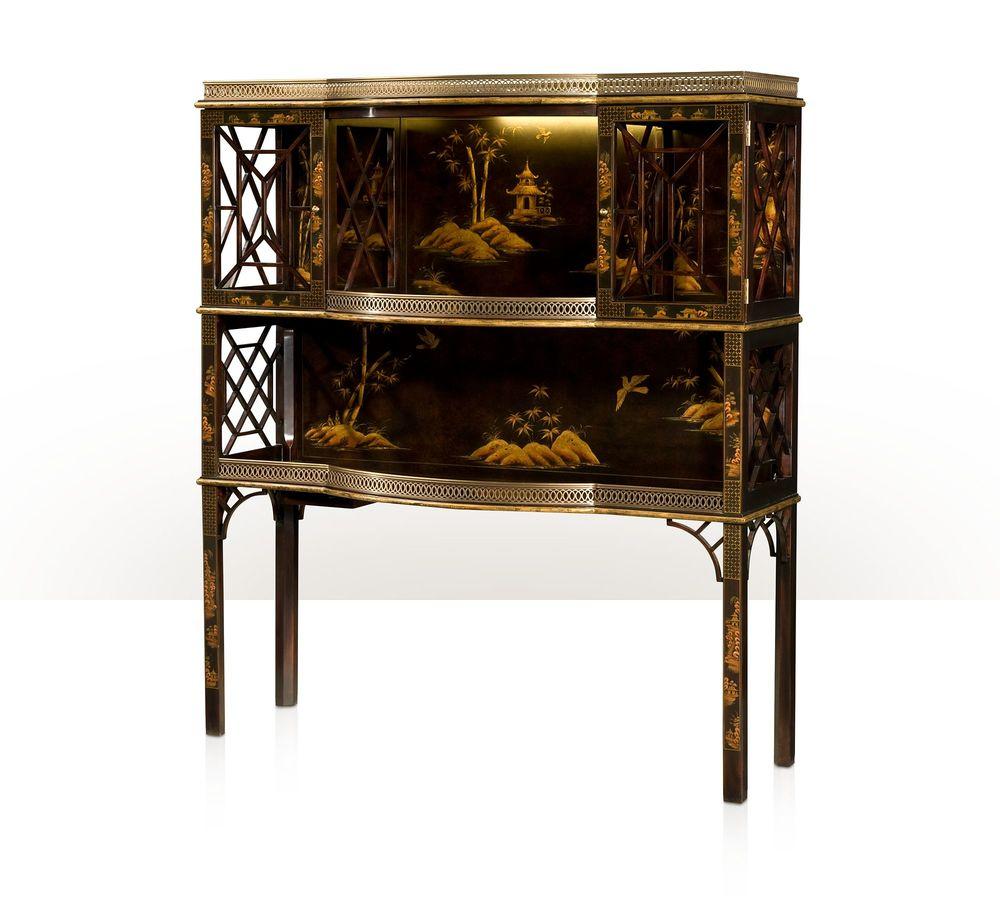 Theodore Alexander - Chocolate Garden Bar & Curio Cabinet