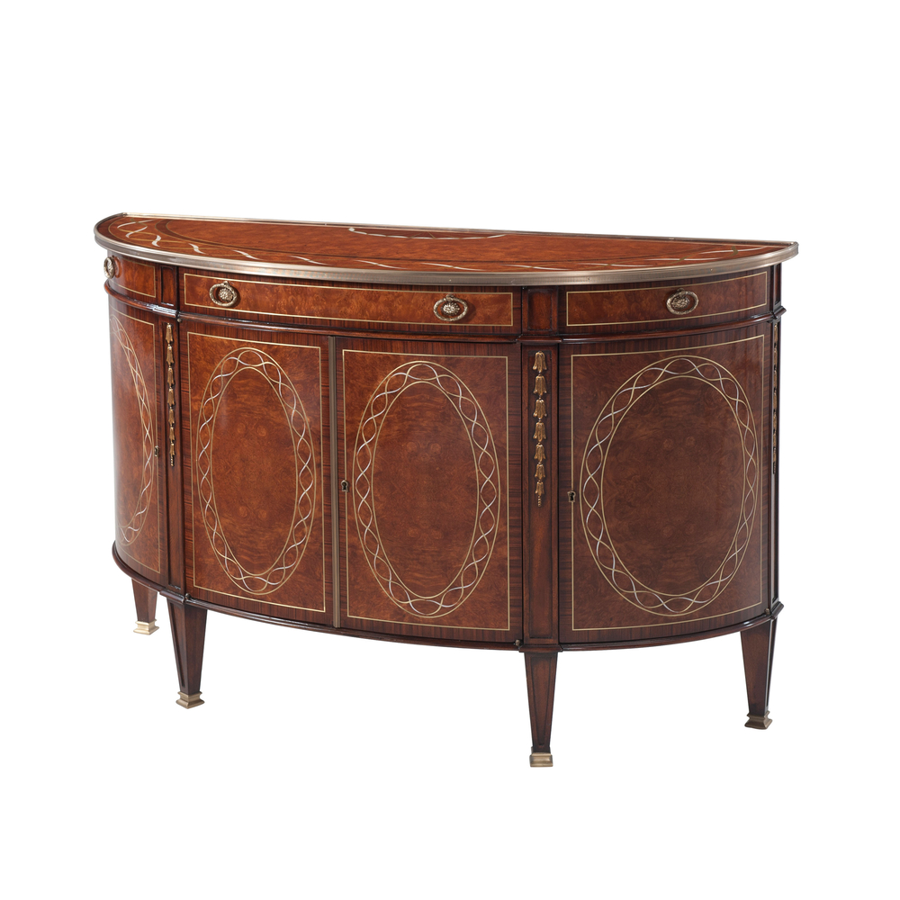 Theodore Alexander - A Finely Inlaid Bowfront Decorative Chest