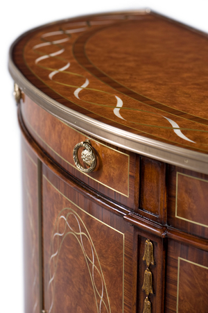 Thumbnail of Theodore Alexander - A Finely Inlaid Bowfront Decorative Chest
