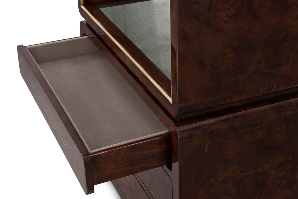 Theodore Alexander - Grace Tall Display Cabinet of Tapered Form