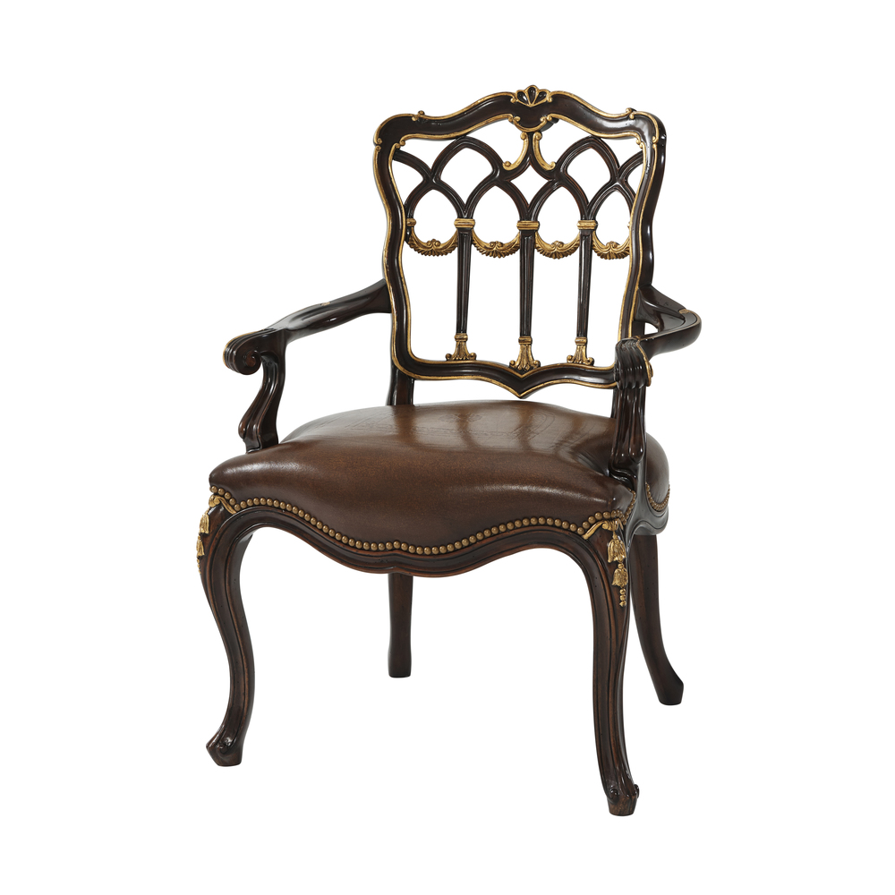 Theodore Alexander - The Gothic Library Arm Chair