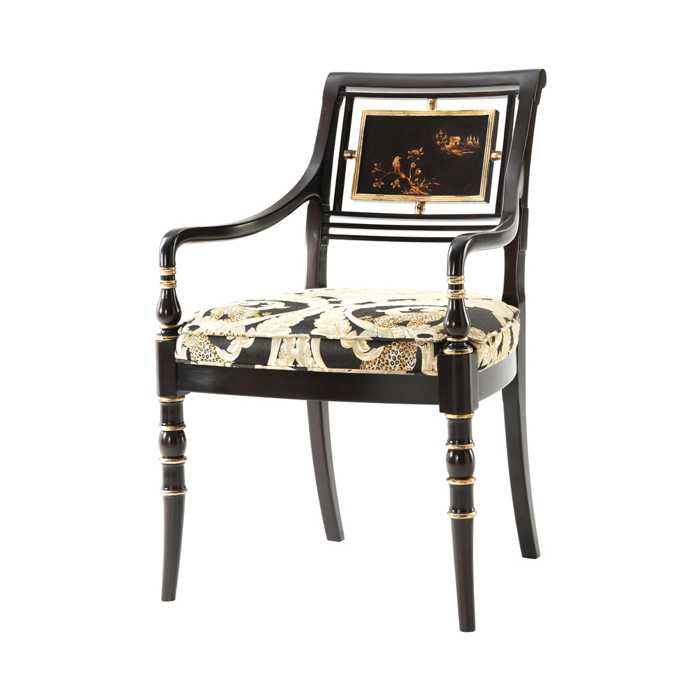 THEODORE ALEXANDER - Library Open Arm Chair