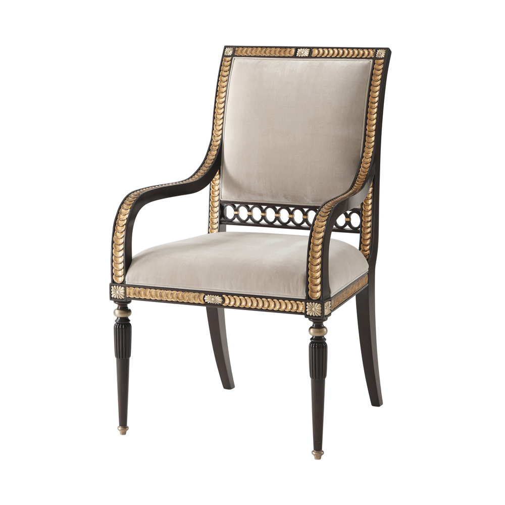 Theodore Alexander - Guilloche Dining Arm Chair