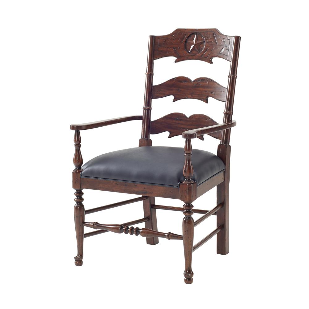 Theodore Alexander - Chevron and Star Arm Chair