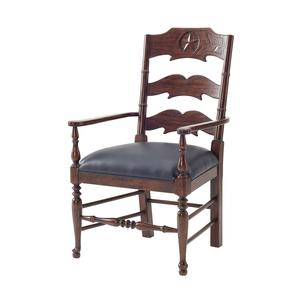 Thumbnail of Theodore Alexander - Chevron and Star Arm Chair