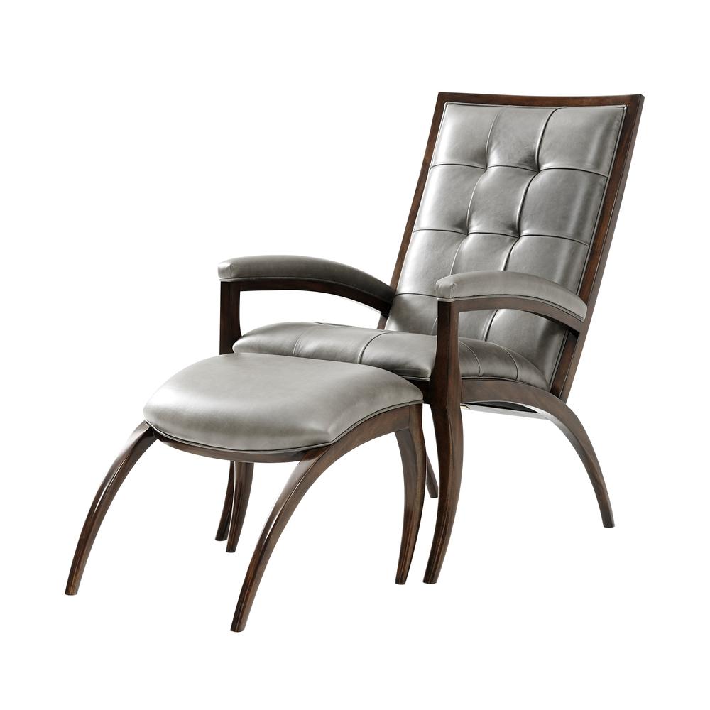 THEODORE ALEXANDER - Arc Chair & Ottoman