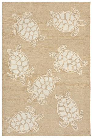 "Thumbnail of Trans-Ocean Import - Capri Turtle Neutral Rug, 5'x7'6"""