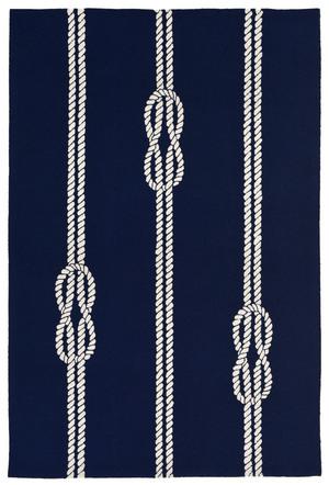 "Thumbnail of Trans-Ocean Import - Capri Ropes Navy Rug, 5'x7'6"""