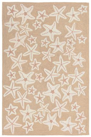 "Thumbnail of TRANS-OCEAN IMPORT CO., INC. - Capri Starfish Neutral Rug, 5'x7'6"""