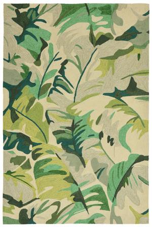 "Thumbnail of Trans-Ocean Import - Capri Palm Leaf Green Rug, 5'x7'6"""