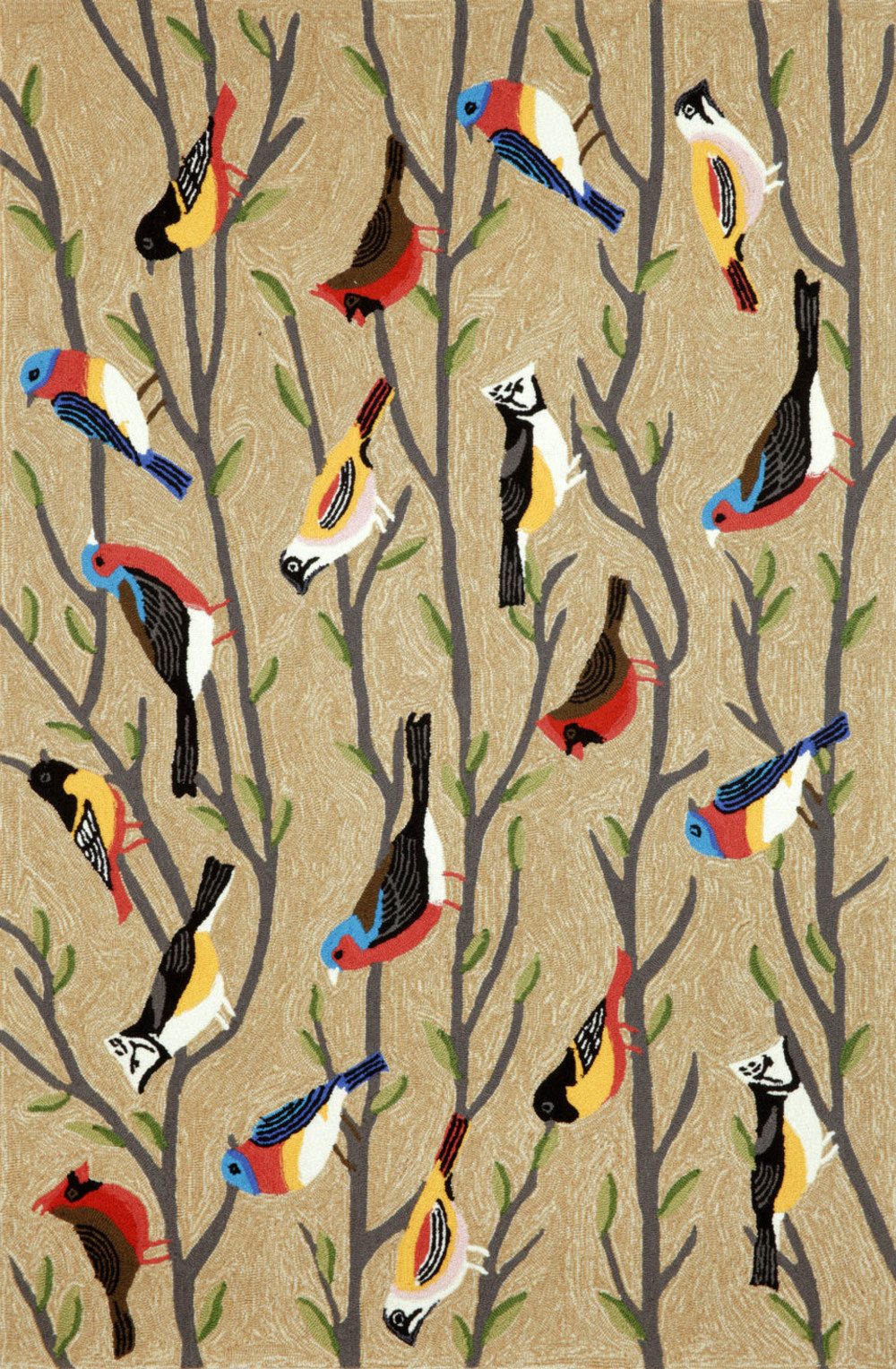 Trans-Ocean Import - Frontporch Birds Multi Rug, 5'x8'
