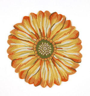 Thumbnail of Trans-Ocean Import - Frontporch Sunflower Yellow Rug, 5'x5'