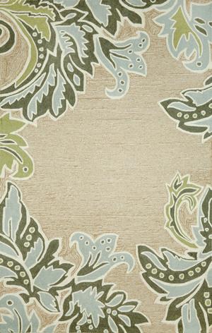 Thumbnail of Trans-Ocean Import - Ravella Ornamental Leaf 5x8 Rug