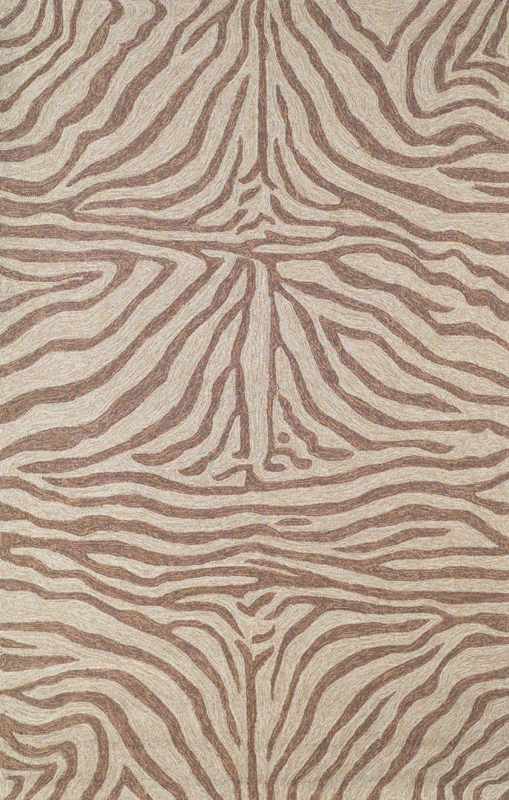 Trans-Ocean Import - Ravella Zebra Brown Rug, 5'x8'