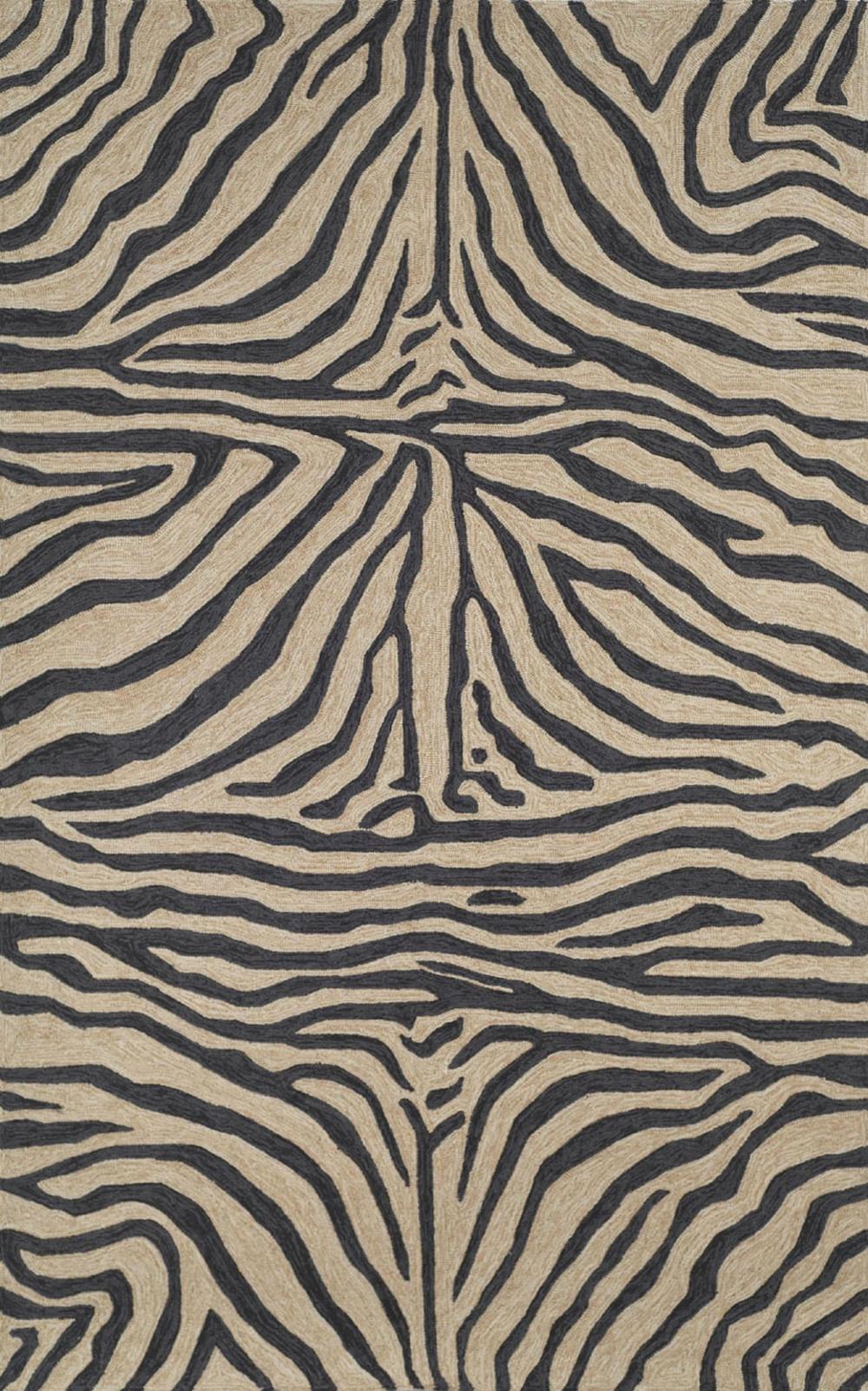 Trans-Ocean Import - Ravella Zebra Black Rug, 5'x8'
