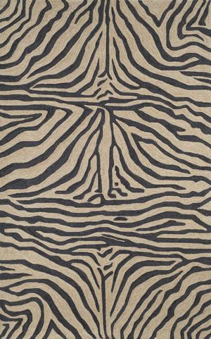 Thumbnail of Trans-Ocean Import - Ravella Zebra Black Rug, 5'x8'