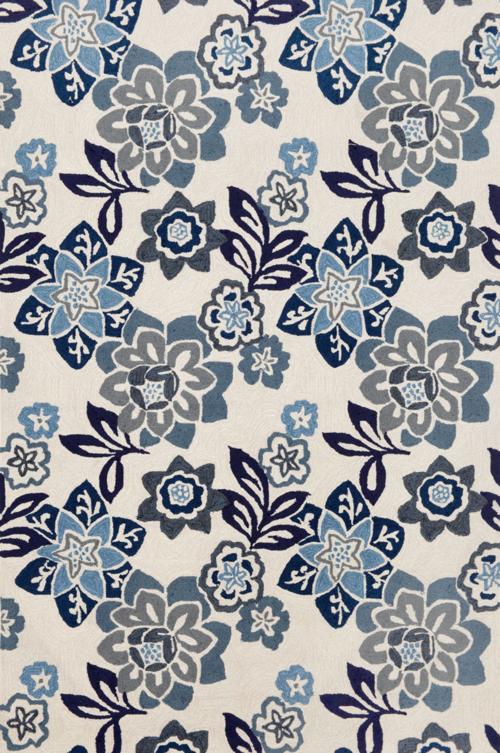 Trans-Ocean Import - Ravella Floral China Blue 5x8 Rug