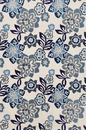 Thumbnail of Trans-Ocean Import - Ravella Floral China Blue 5x8 Rug