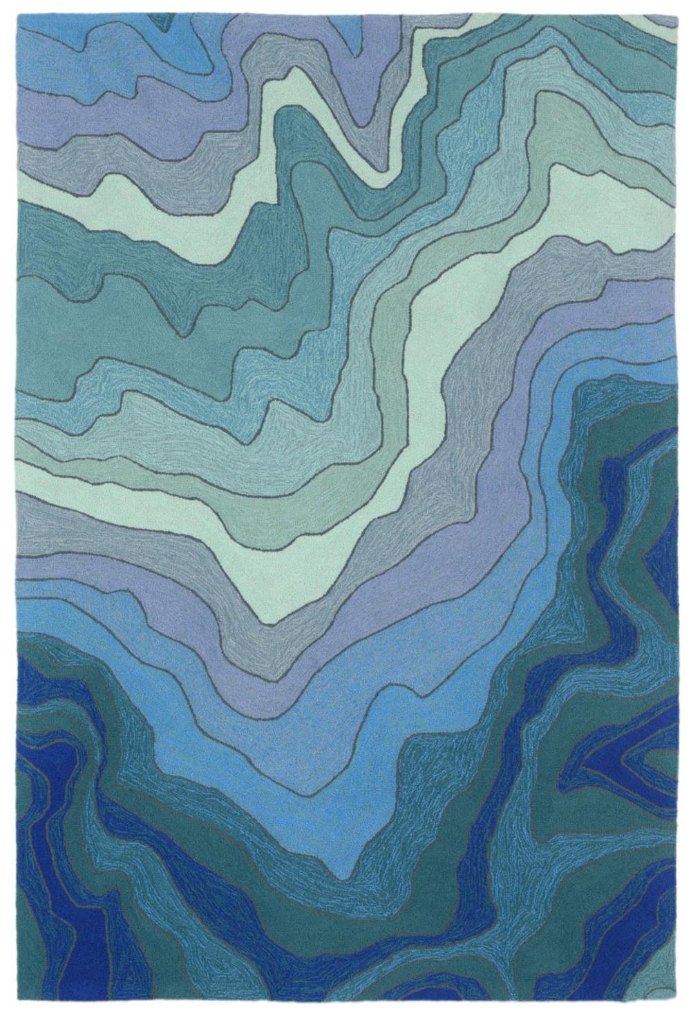 "Trans-Ocean Import - Ravella Water Blue 5'x7'6"" Rug"