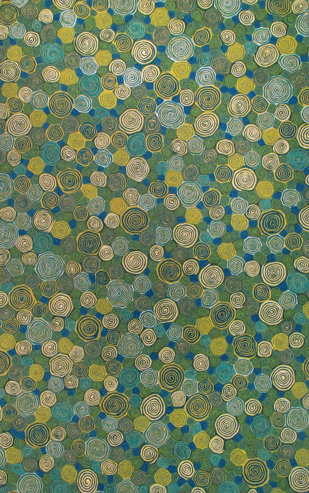 Trans-Ocean Import - Visions III Giant Swirls Marina Rug, 5'x8'