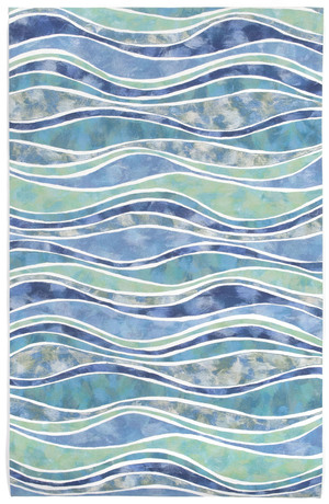Thumbnail of TRANS-OCEAN IMPORT CO., INC. - Visions III Wave Ocean Rug, 5'x8'
