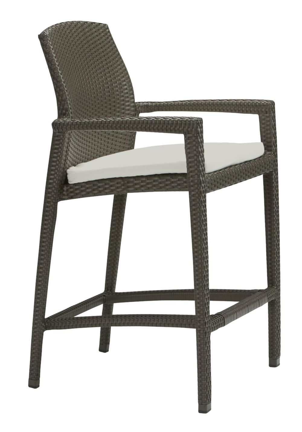 Tropitone Furniture - Stationary Bar Stool with Seat Pad