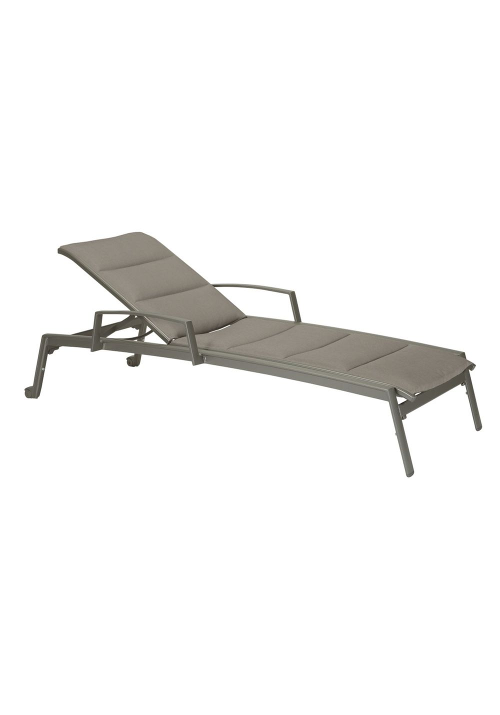 Tropitone Furniture - Chaise Lounge with Arms & Wheels