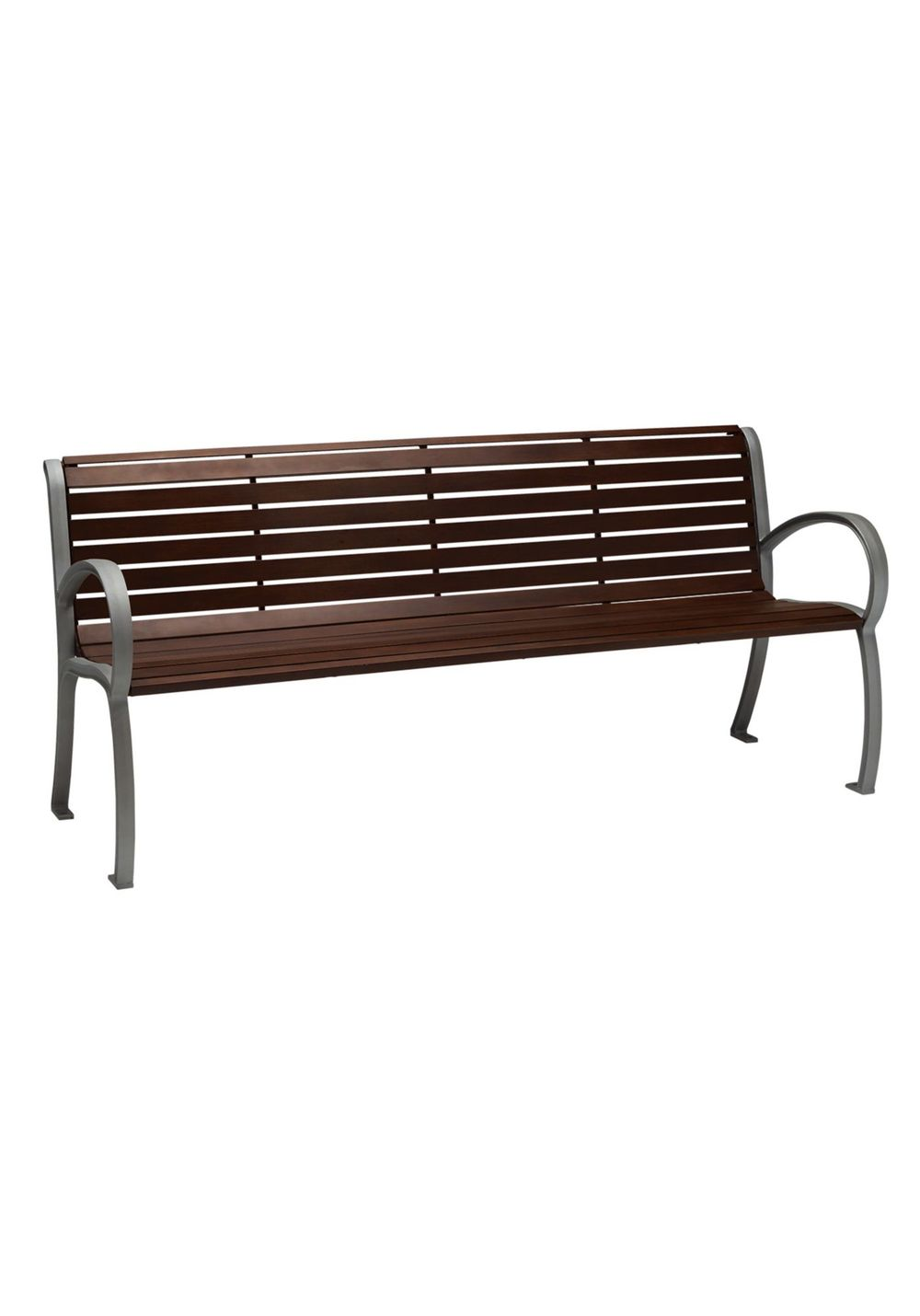 Tropitone Furniture - District Bench with Back & Arms