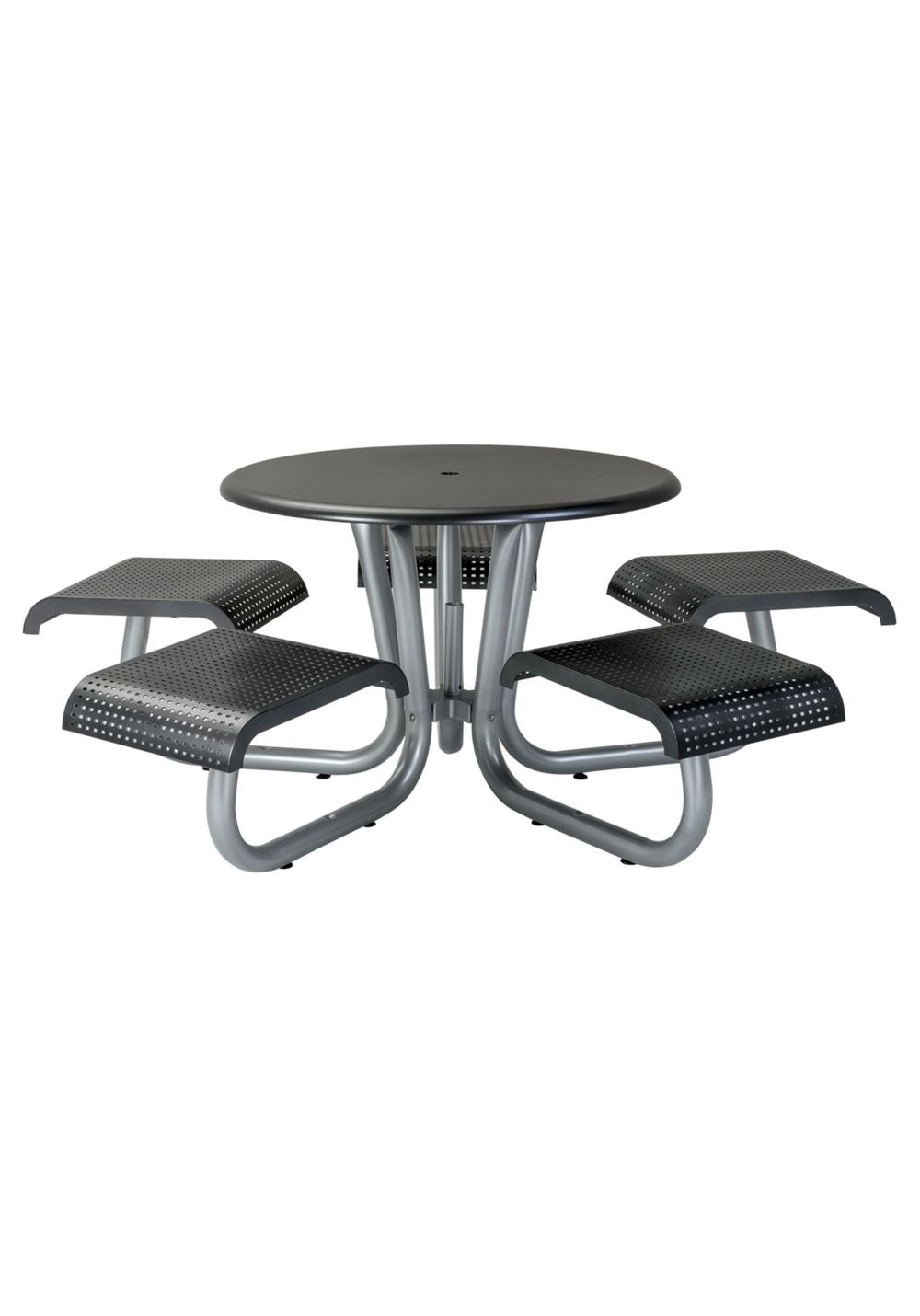 Tropitone Furniture - District Round Picnic Table with 5 Seats