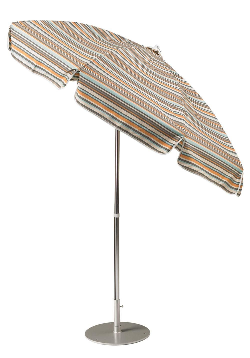Tropitone Furniture - 7.5' Market Push Button Tilt, Manual Lift