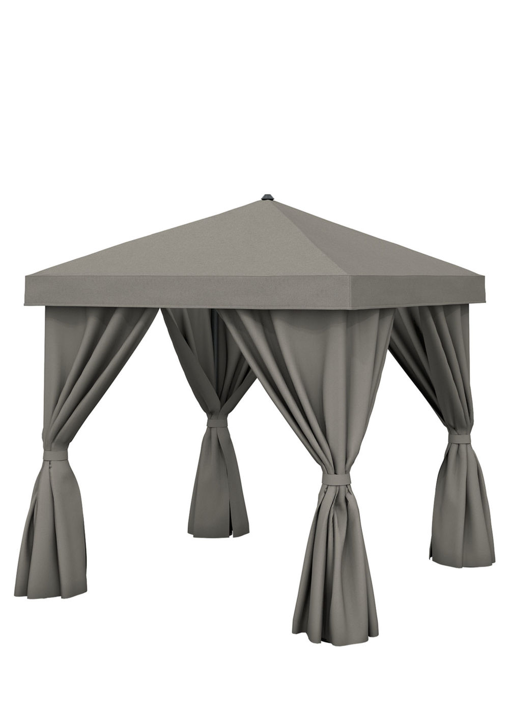 Tropitone Furniture - 8'x8' Square with Fabric Curtains, No Vent