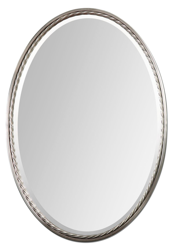 Uttermost Company - Casalina Nickel Oval Mirror