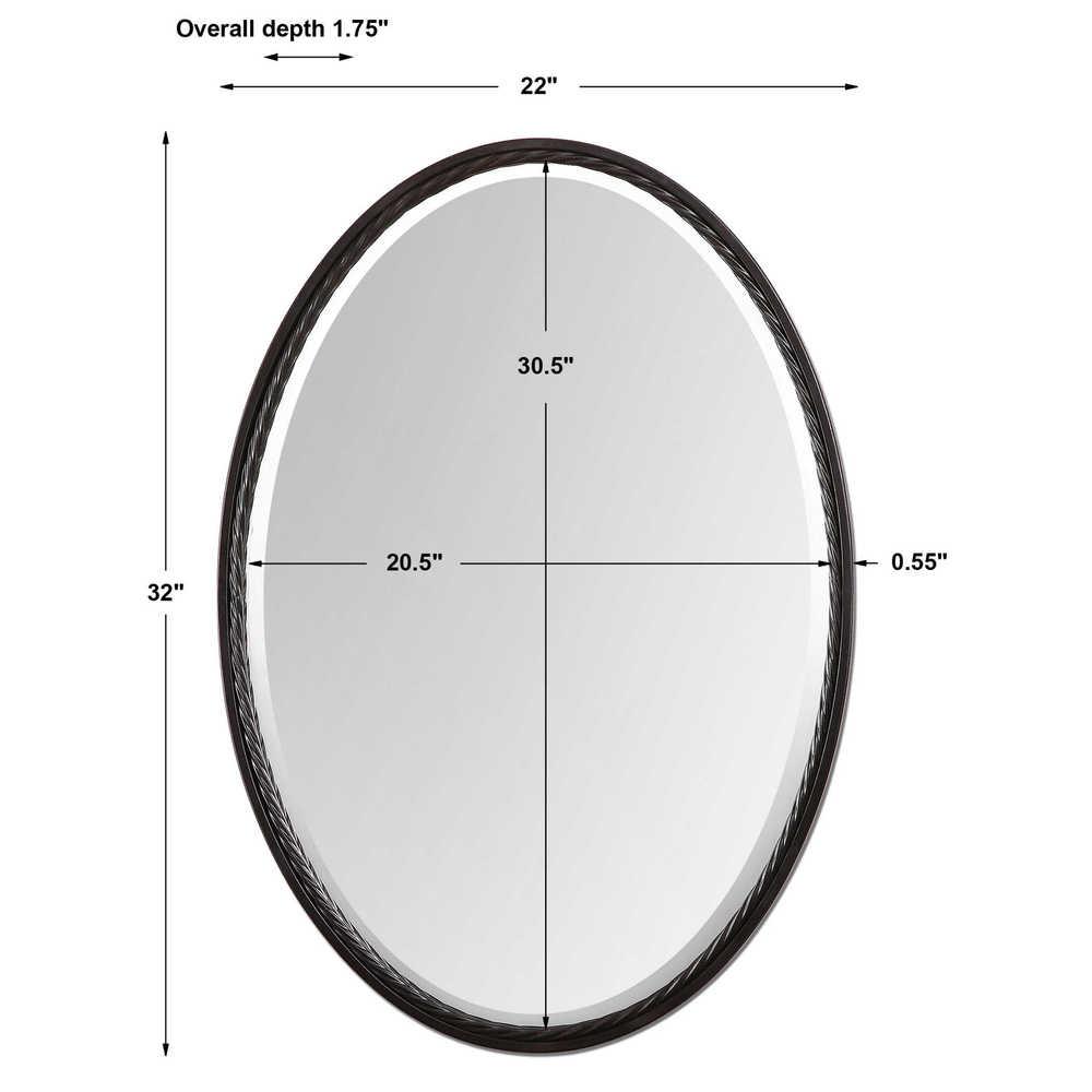 Uttermost Company - Casalina Oil Rubbed Bronze Oval Mirror