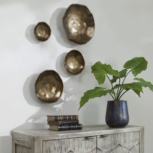 Thumbnail of Uttermost Company - Lucky Coins Brass Wall Bowls, Set/4