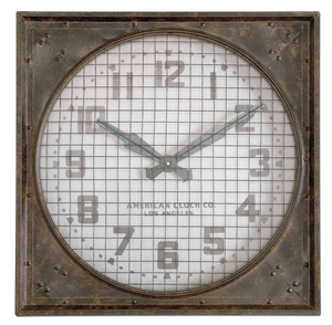 Thumbnail of Uttermost Company - Warehouse Wall Clock with Grill