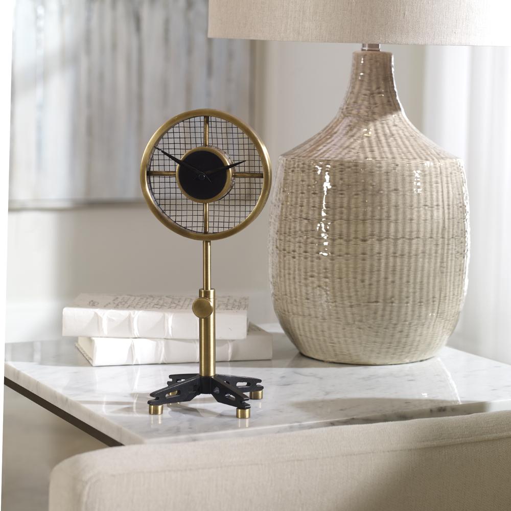 Uttermost Company - Gio Brass Table Clock