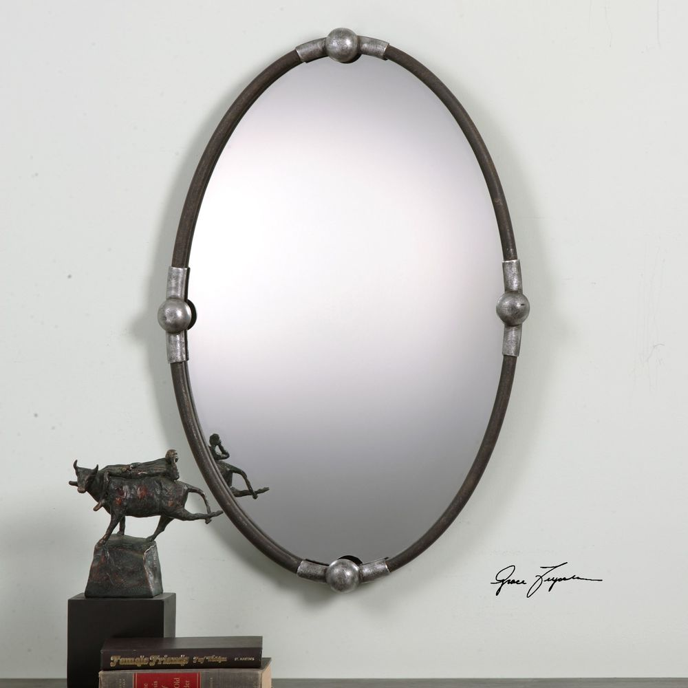 Uttermost Company - Carrick Black Oval Mirror