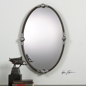 Thumbnail of Uttermost Company - Carrick Black Oval Mirror