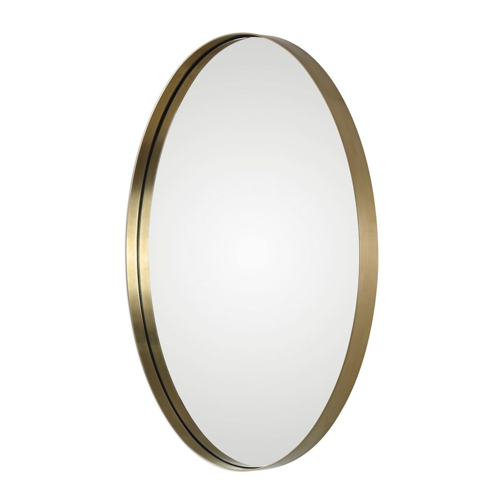 Uttermost Company - Pursley Brass Oval Mirror