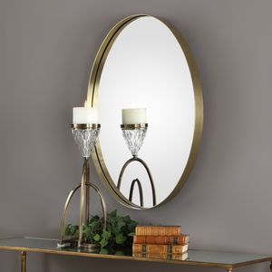 Thumbnail of Uttermost Company - Pursley Brass Oval Mirror