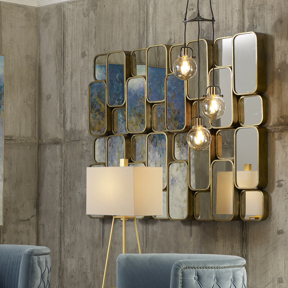 Uttermost Company - Canute Modern Gold Mirror