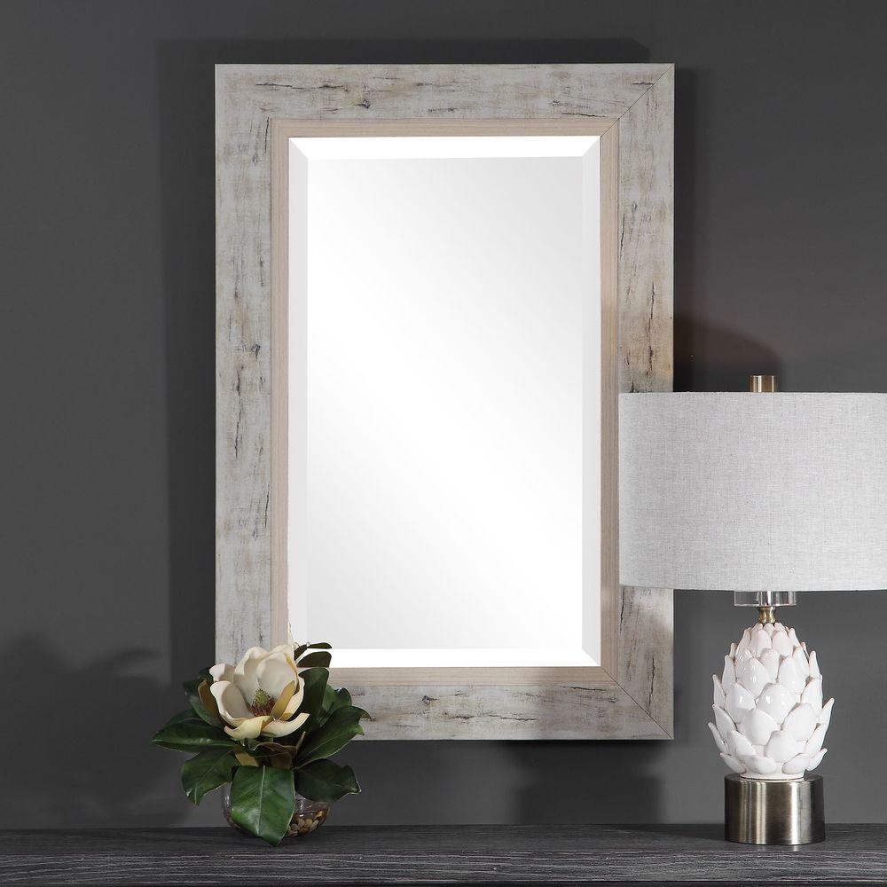 Uttermost Company - Branbury Rustic Light Wood Mirror