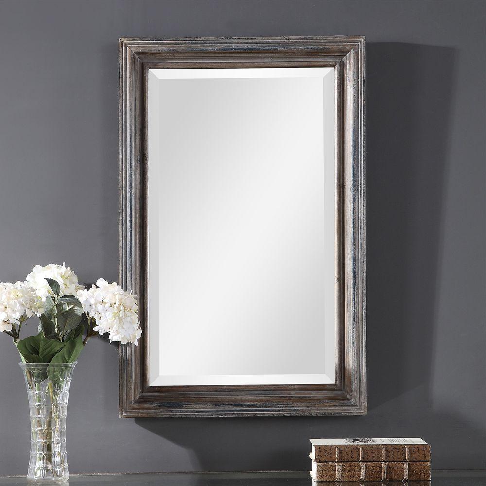 Uttermost Company - Gulliver Distressed Blue Vanity Mirror