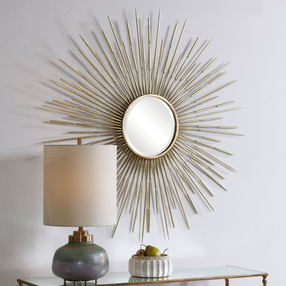 Uttermost Company - Golden Rays Round Mirror