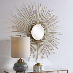 Thumbnail of Uttermost Company - Golden Rays Round Mirror